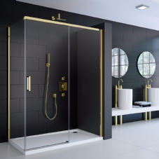 Merlyn 8 Series Gold Sliding Shower Door